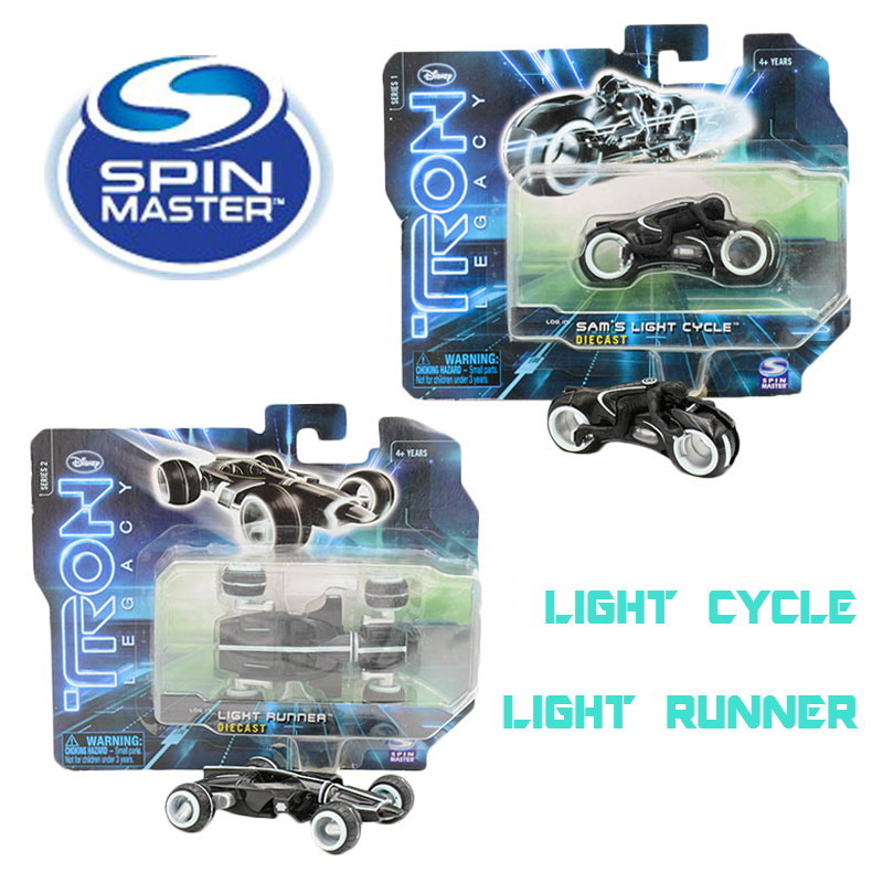 SPIN MASTER 100% Original Light Cycle Light Runner Set Tron Legacy Diecast Toy Motorbike On Sale Speelgoed(China (Mainland))