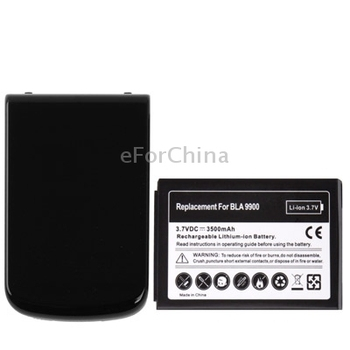 3500mAh Replacement Mobile Phone Battery Cover Back Door for Blackberry Bold Touch 9900 Black