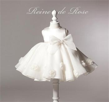 2015 New Toddler Girl Dress Lace Flower Around Princess Baby Dresses Lovely Party Dress For Girl Children Noble Pageant Wearing