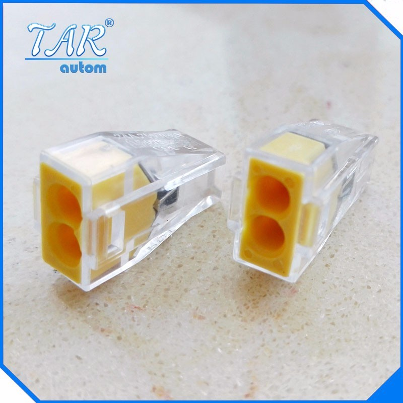 WAGO type 50pcs Free shipping PCT-102 Push in wiring connector For Junction box 2 pin conductor terminal block cable