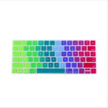 Arrival Rainbow Gradient Magic Keyboard Cover Silicone Skin Protective Film For Apple Magic Keyboard MLA22B/A US Keyboard