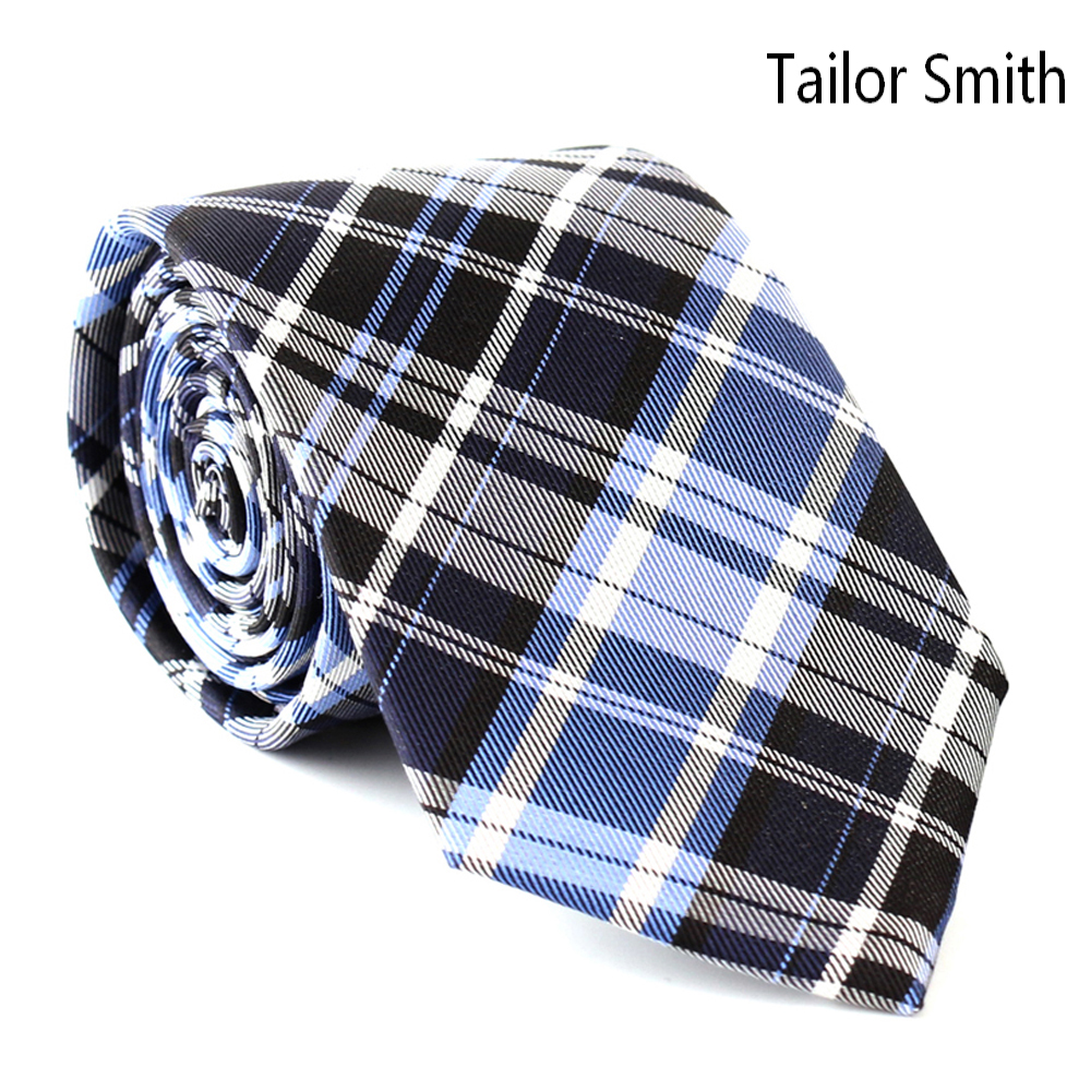 Tailor Smith Mens Luxury Designer Plaid Tie Formal Wedding Suit Dress Checked Tie Pure Natural Silk Jacquard Handmade Cravat(China (Mainland))