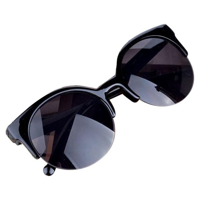 2015 New Sunglasses Cat Eye Semi-Rim Round Sunglasses For Women Sun