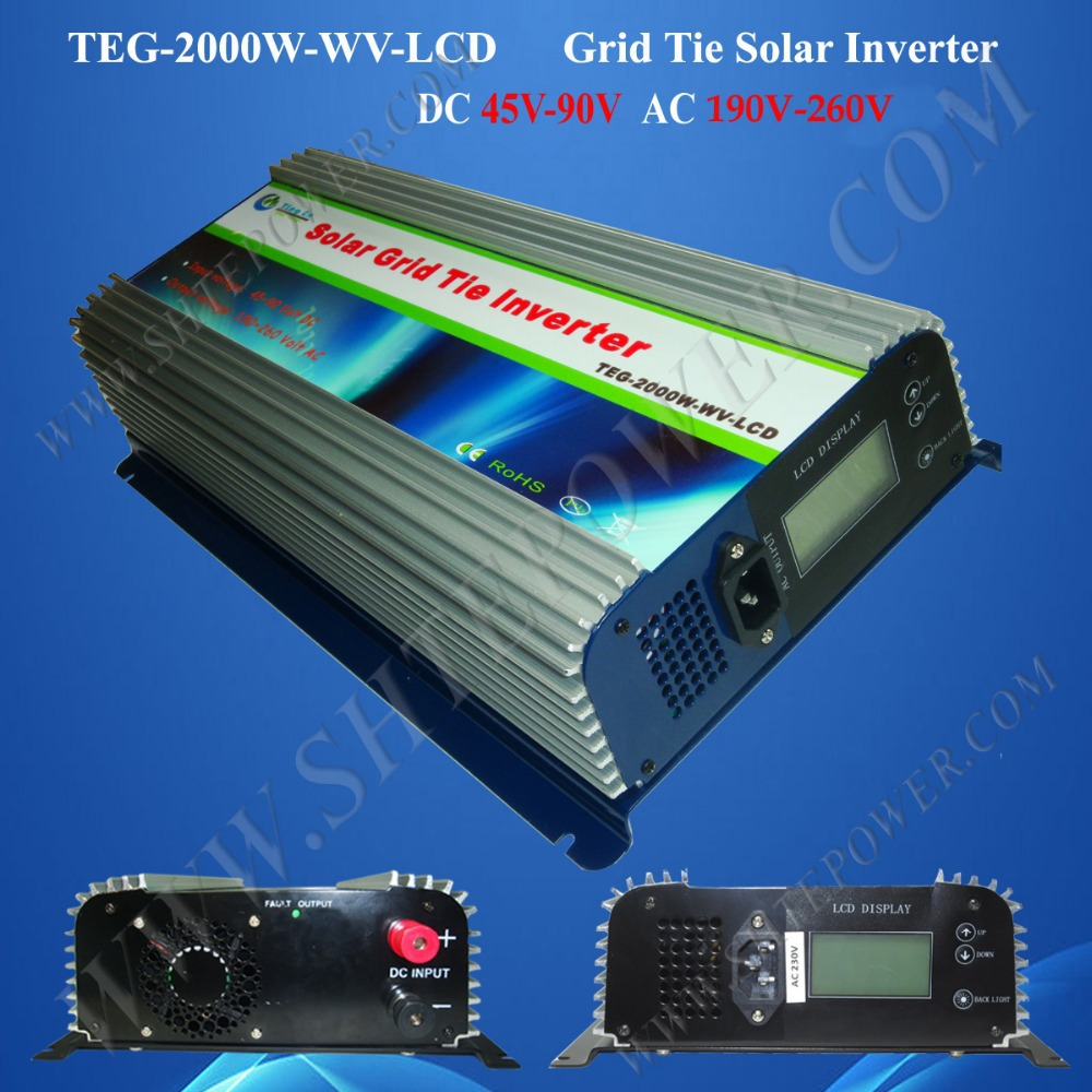 Free shipping DC 45-90v Solar Panels 2000W Grid Tie Power Inverter(China (Mainland))