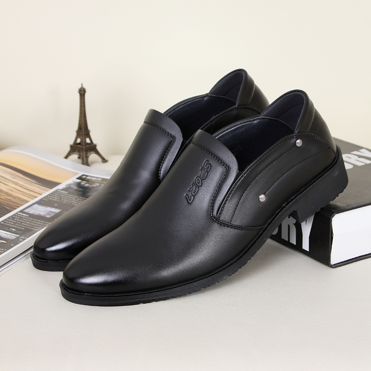 Britain style Male casual single shoes married pointed toe black color business smiply fashion men's oxfords - Online Shoes Shop store