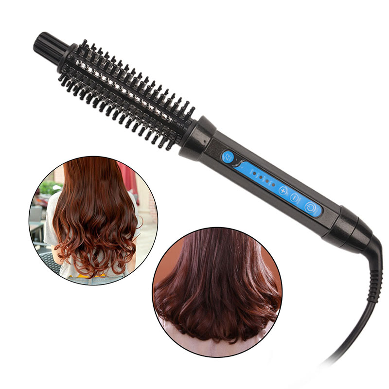 New 360 degree automatic hair styling tools electric hair brush comb hair styler Straightening Iron Curler Roller 4445(China (Mainland))