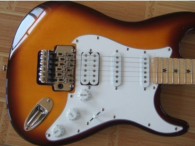 NEW Arrival stratocaster Deluxe USA Vintage sunburst bass Electric guitar(China (Mainland))
