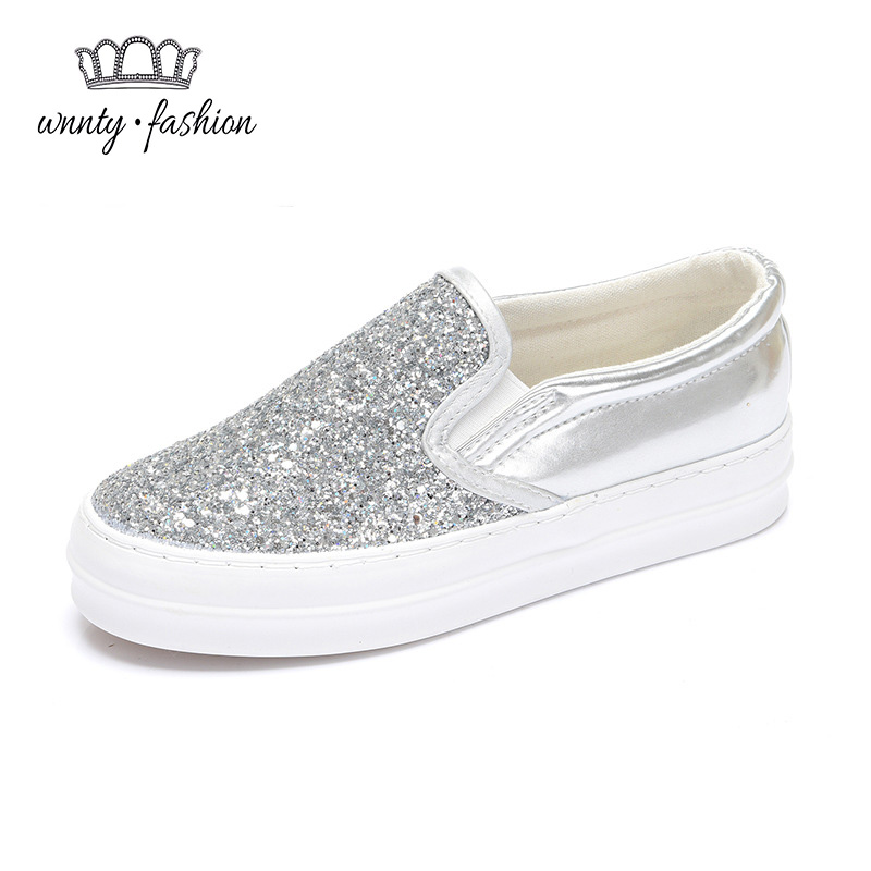 Sparkling Low platform canvas casual shoes spring and autumn brand platform shoes elevator sneaks shoes womens Sequins<br><br>Aliexpress