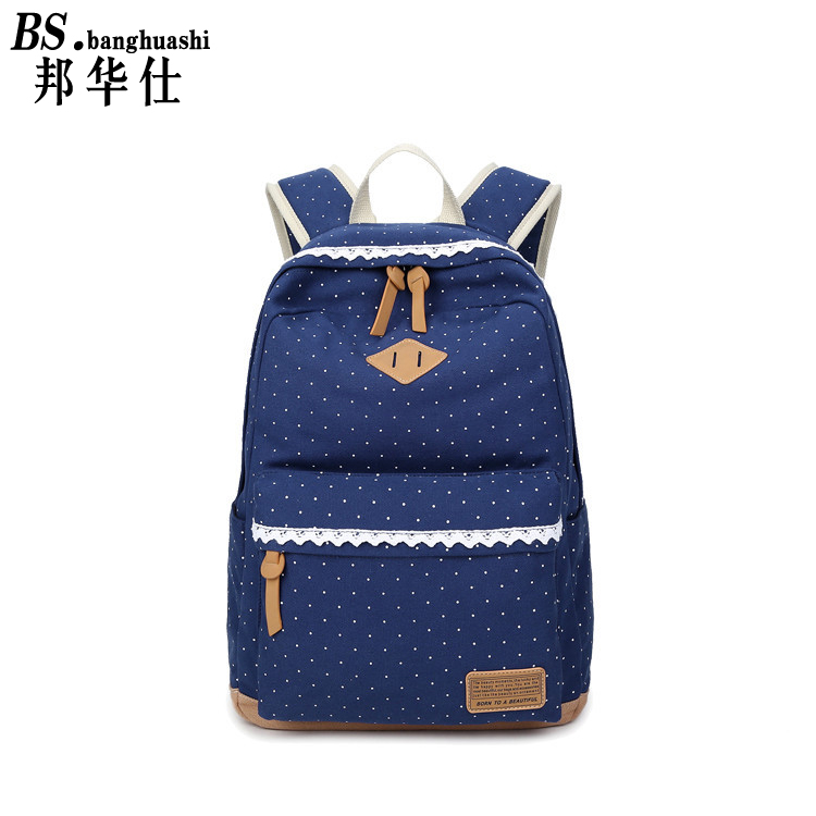 Female canvas backpack big fresh female Student Schoolbag Set D Laptop Computer Pack Ladies Teenage Girls Schoolbag(China (Mainland))