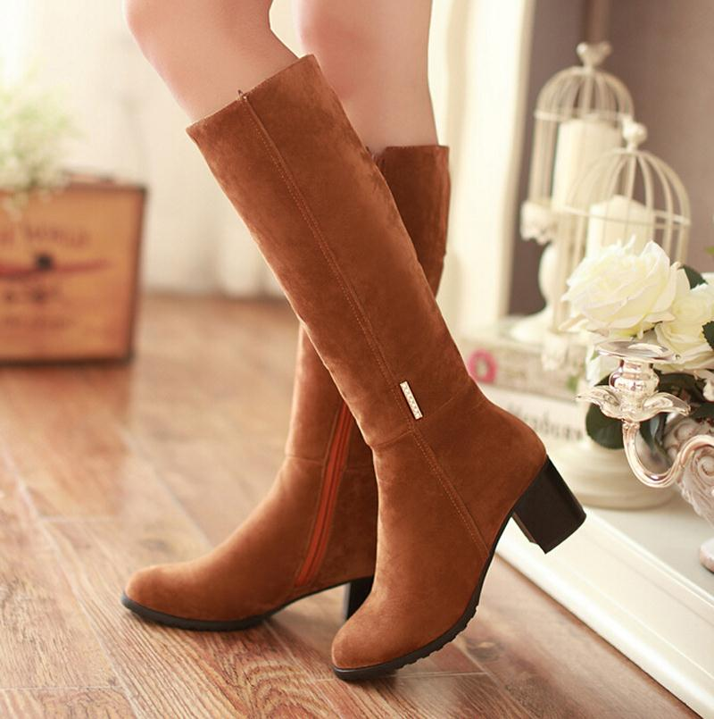 New high boots Sexy Over The Knee High Solid Thick Waterproof Motorcycle Boots Fashion Spring Square Long Boots For Women<br><br>Aliexpress