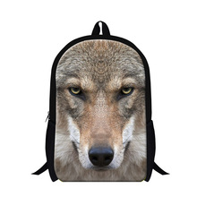 Buy backpacks elementary students,Wolf 3D print childrens school bags boys animal pattern bookbags Teenager Shoulder Back Pack for $19.76 in AliExpress store