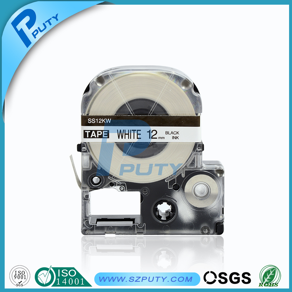 Compatible EPSON KINGJIM label tape 12mm LC 4WBN SS12KW for labelworks Tepra