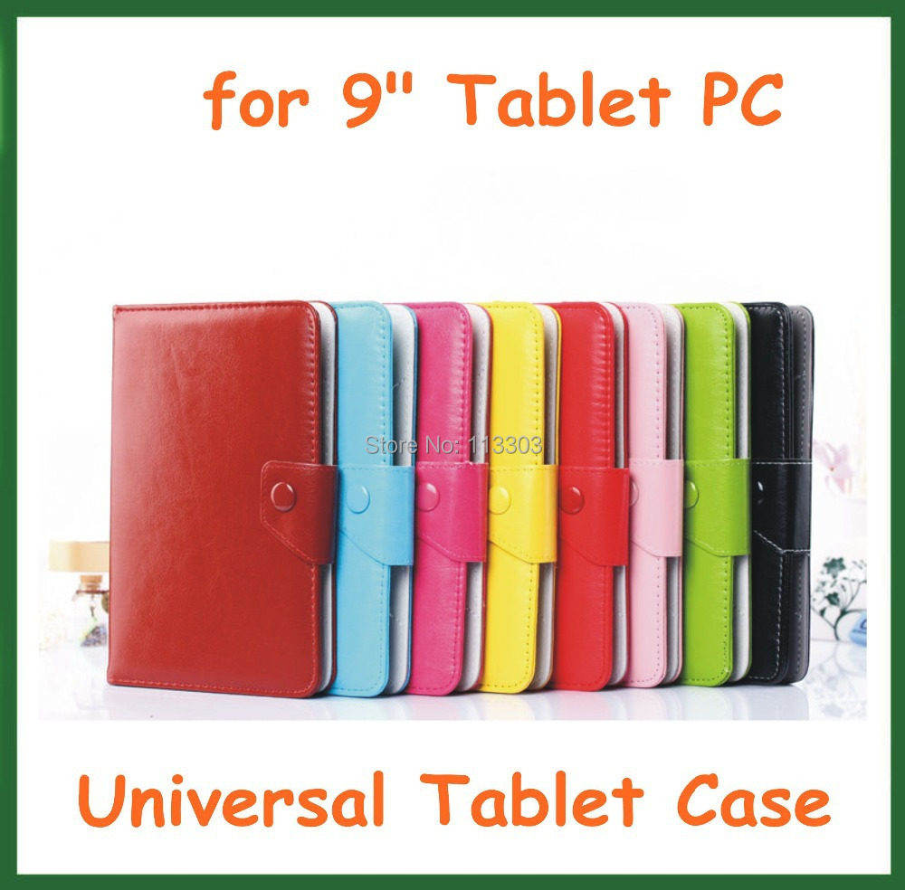 100pcs Universal 9 inch PU Leather Case with Four Hook Angle Adjustable for Android Tablet PC 9 Cover with Stand High Quality<br><br>Aliexpress