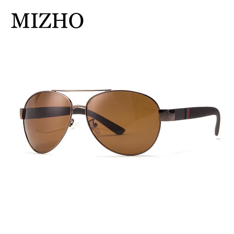 MIZHO Brand High Quality Polaroid Sunglasses Men Polarized Driving 26g Light Polyamides leg Alloy Pilot HD Glasses Man Original(China (Mainland))