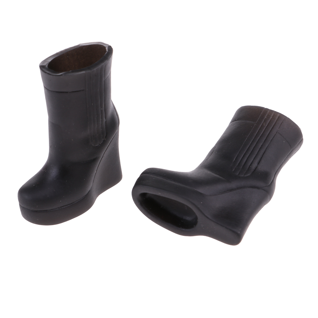 MagiDeal Plastic Boots Shoes for 12inch Blythe 1/6 Licca Doll Clothes Accessory Black