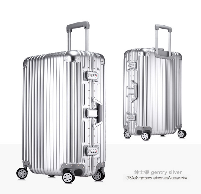 2016 Designer Luggage With TSA Lock ABS&Aluminum Travel Suitcase Rolling Luggage Bags Women Free Shipping(China (Mainland))
