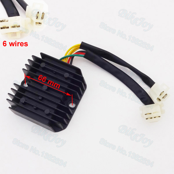 6 Wires Voltage Regulator Rectifier For CH125 125cc Moped Scooter Mtorcycle Parts Pit Dirt bikes(China (Mainland))