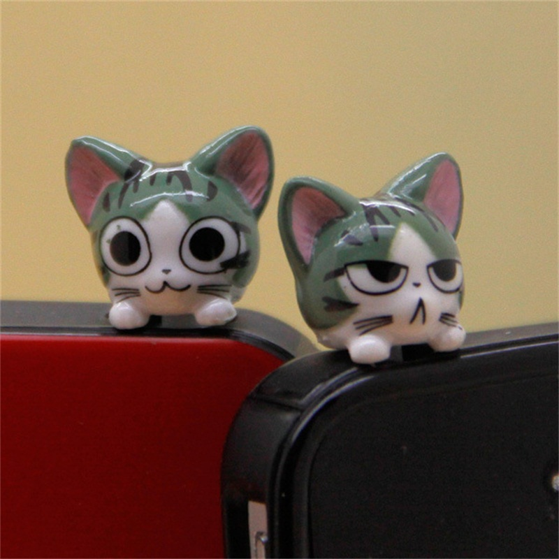 Hot Sale Couple Dust Plugs Cartoon Cheese Cat Mobile Phone Dust Plug Cute Doll Dust Cap Mobile Phone Accessories Wholesale Gift(China (Mainland))
