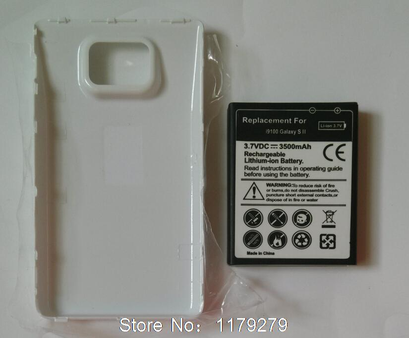 free shipping Black or White Back Cover+3500mAh S2 Extended Battery For Samsung Galaxy S2 I9100/ S2 plus I9105