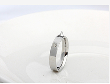 2015 new Korean hip hop punk style rivets stainless steel ring men titanium steel rings personalized