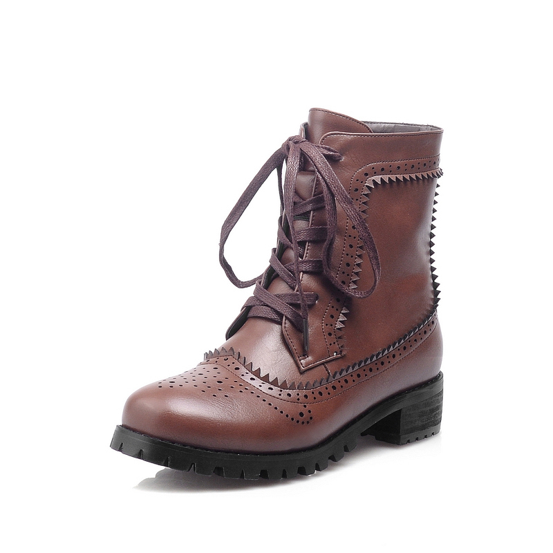 brown brogue boots womens images
