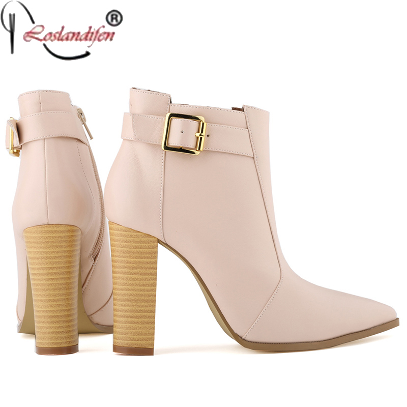 Plus Size 35-42 Autumn Winter Women Boots Solid European Ladies shoes Martin Boots Ankle Boots Thick Heel Bootie Pointed Toe(China (Mainland))