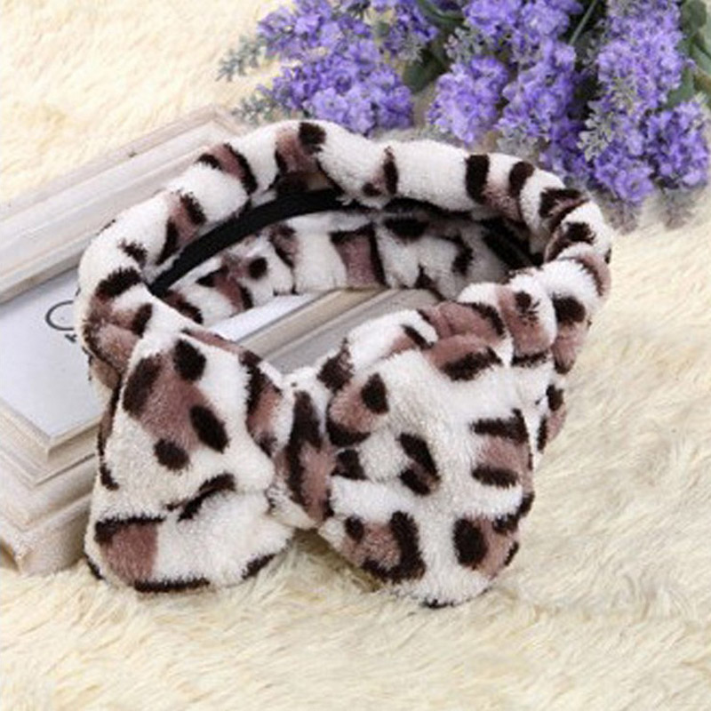 High quality hot-selling high-end cotton double-sided plush rabbit ear facial hair band headband masks factory outlet(China (Mainland))