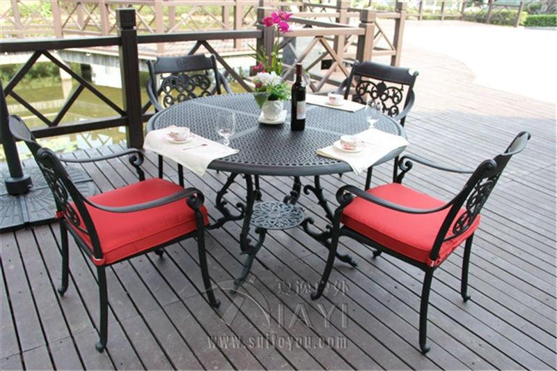 5-piece cast aluminum patio furniture garden furniture Outdoor furniture transport by sea(China (Mainland))
