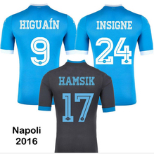 14 15 Thai Napoli HIGUAIN HAMSIK HIGUAIN CALLEJON INSIGNE home soccer Jerseys 2015 Naples Away Jeans White football Shirts 14/15(China (Mainland))