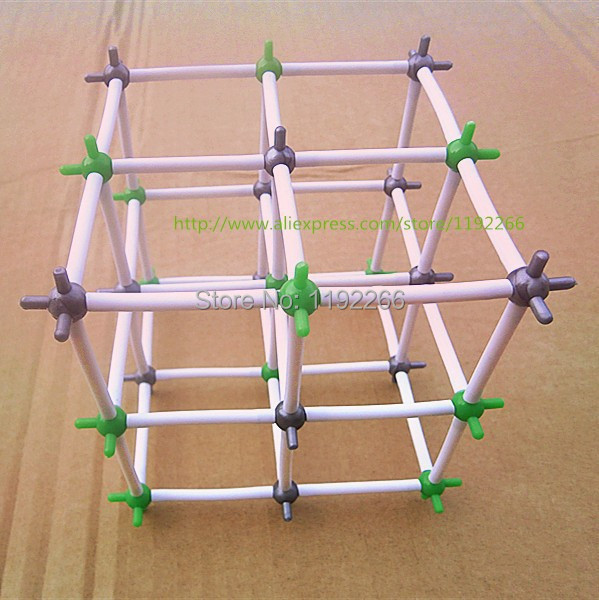5SETS/LOT Ionic Crystal structure Model Sodium Chloride(NaCl) Crystal Structure Model Chemical crystal structure model kit(China (Mainland))