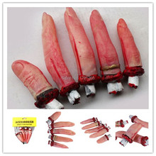 1Set/5Pcs Props Spoof Toy Bloody Severed Finger Body Parts Chop Halloween Decorations qxUjN(China (Mainland))