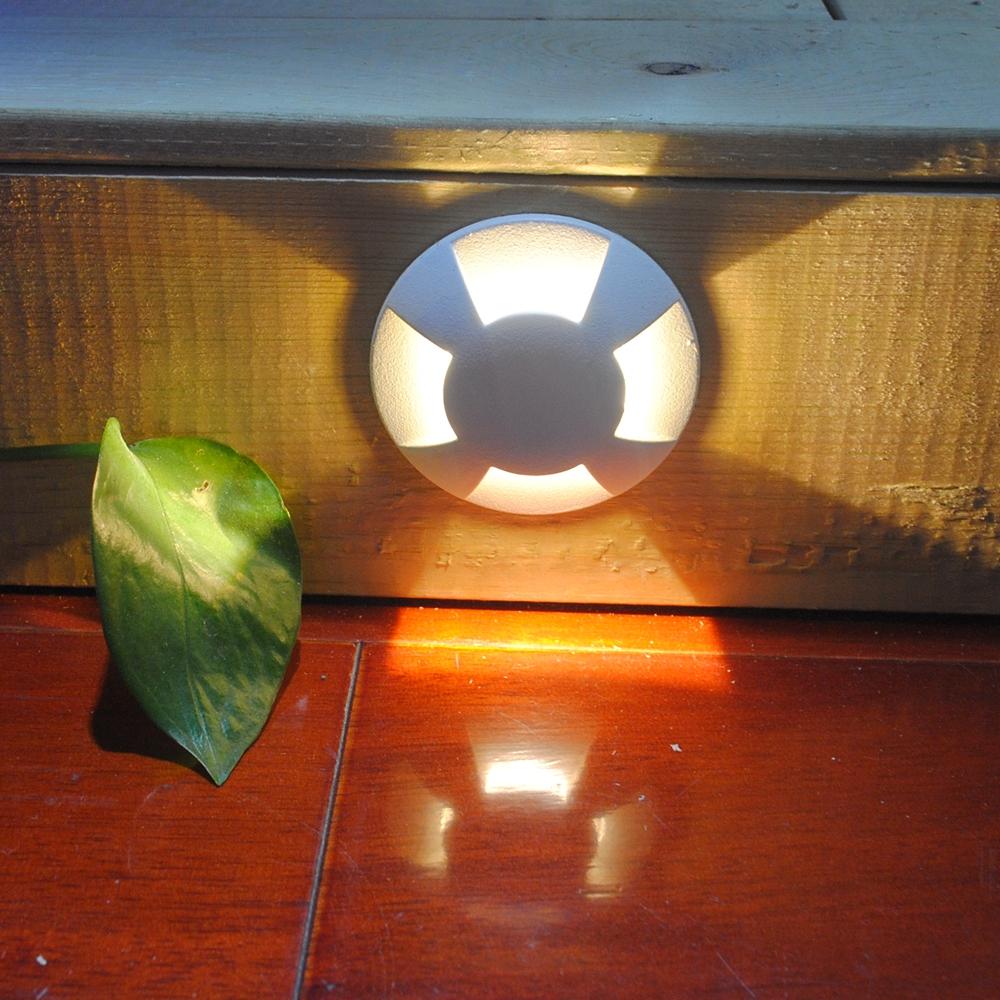10pcs/lot ip67 1w LED Step Floor Lamp Waterproof Garden Grondspot Lighting Recessed into LED Floor Tile Brick Wall Stairs Lamp(China (Mainland))