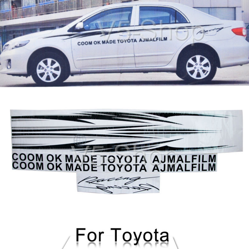 1.78M / 70.1 inch Car Vinyl Graphics Body Side Sticker Stripe Decals For Toyota(China (Mainland))