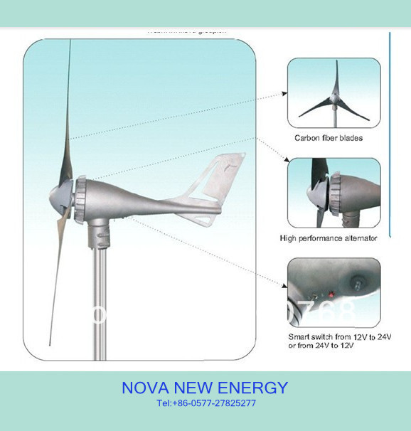 S700 windgeneratoren 400W off grid wind generator power system marine type ,gerador de energia CE/RoHs approved(China (Mainland))