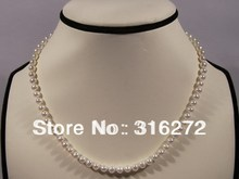 Topearl Jewelry 5-6mm white potato freshwater pearl necklace 925 silver clasp EN51(China (Mainland))