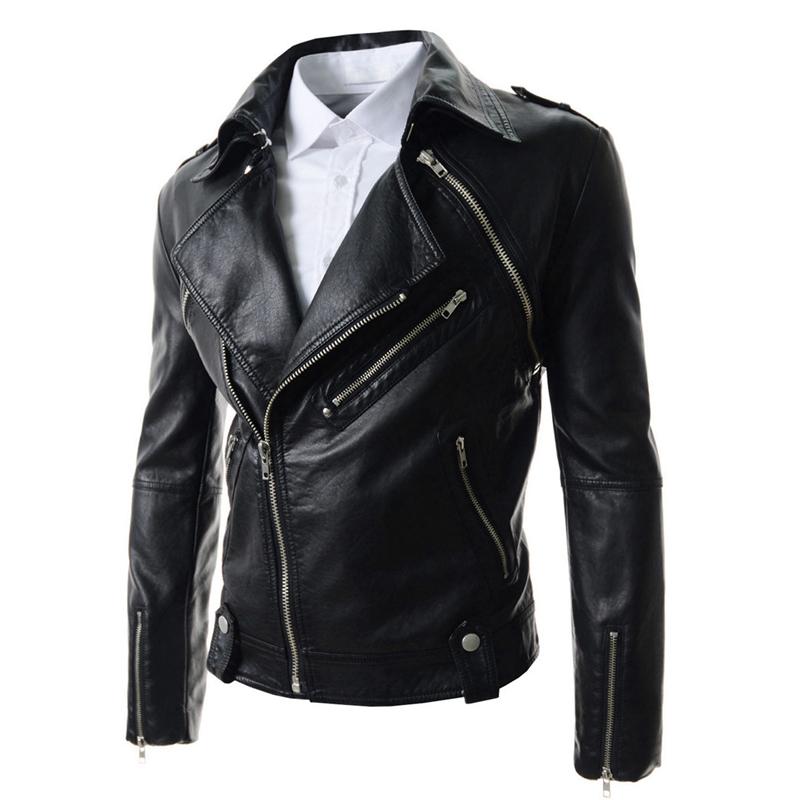 Fashion 2017 new brand zipper PU leather jacket men motorcycle good quality sleeve detachable bomber jacket men size 2xl 229(China (Mainland))