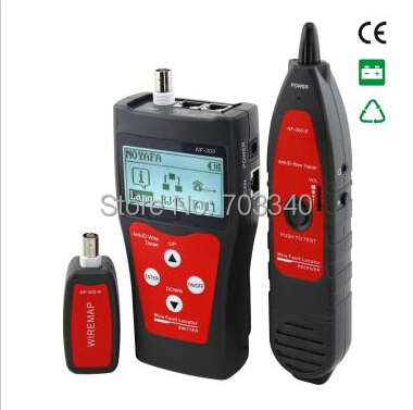 CCTV BNC cable tester wire tracker with cable lenght test BNC RJ45 cable tracer for RJ45 RJ11 BNC USB(China (Mainland))