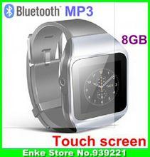 2015 Hot Original Uniscom smart watch 8GB mp3 player Bluetooth touch screen sport MP3 players 40 languages 1pcs -in stock