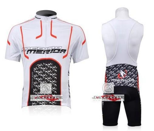 Free shipping NEW  Merida 2010 bib shorts short sleeve cycling team jersey wear clothes bicycle bike riding jerseys bib pants