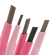 Cosmetic Makeup Rotation Pink Square Eyebrow Pencil Pen Tool BH05502
