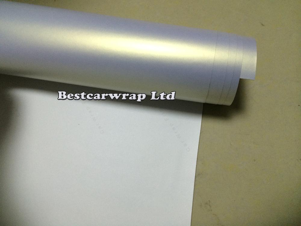 pearl white matt satin chrome Car wrapping film 3m sticker (6).JPG
