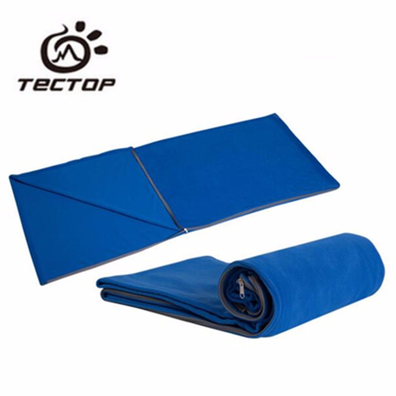TECTOP Camping Fleece Sleeping Bags Liner 180*75 CM Ultralight Envelope Sleeping Bags Thickening Thermal Ourdoor Equipment(China (Mainland))