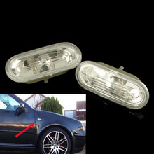 2X Side Marker Light For VW Jetta Golf Bora MK4 Passat B5 B5.5 GTI Beetle R32(China (Mainland))