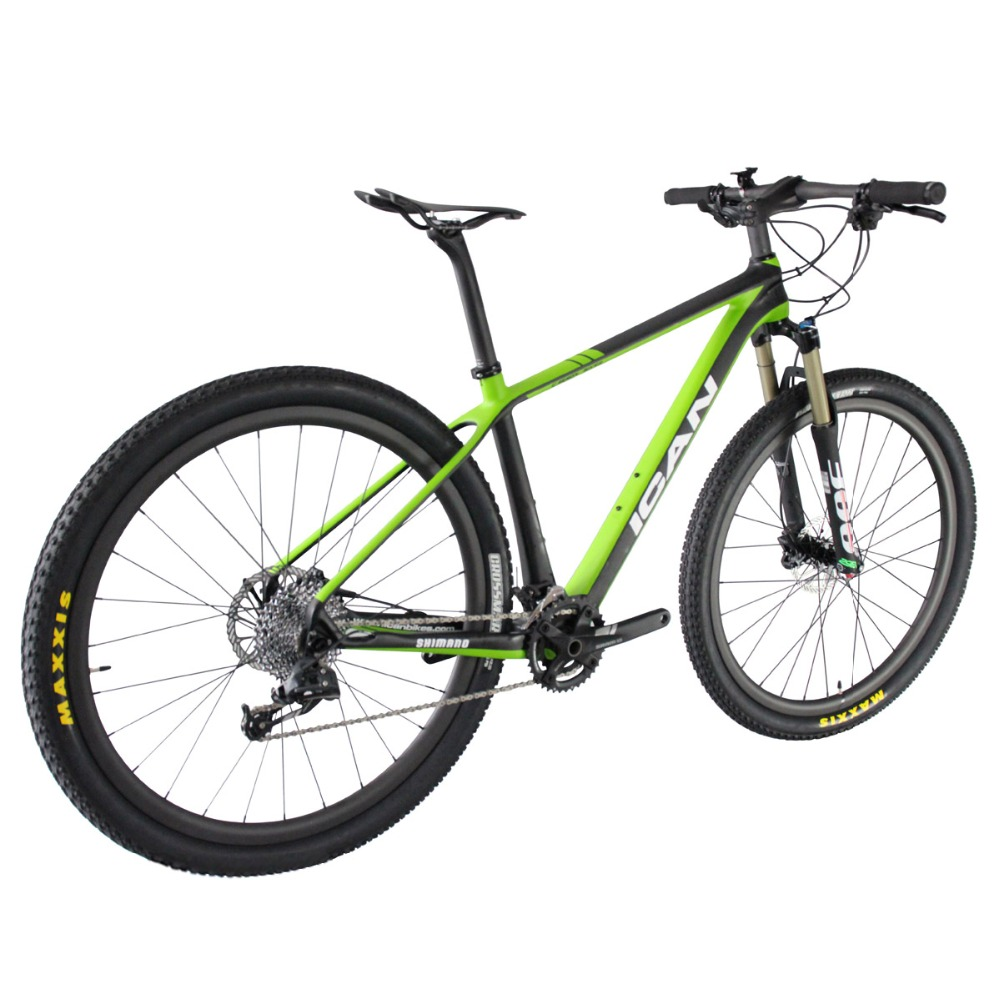 2016 ican design 29er carbon bike full carbon 29 mountain bike high grade completed mtb bicycle green color size 16/18/20 X6(China (Mainland))