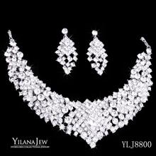 Gorgeous Vintage Style Shining Crystal Rhinestone Necklace Earrings Bridal Wedding Jewelry Sets 8800  african jewelry set (China (Mainland))