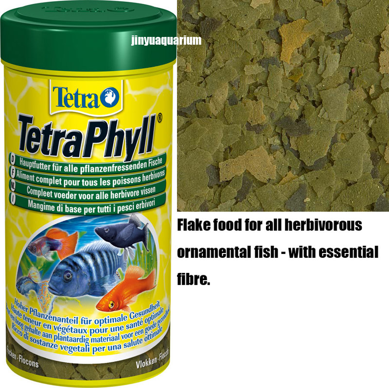 Tetra Phyll tropical fish food flakes 250ml 52g float on water canister feeder aquarium aitum angelfish guppy discus(China (Mainland))