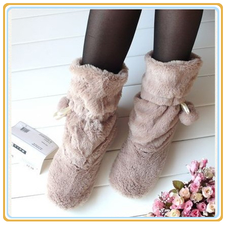Indoor warm comfortable for woman house fur shoes autumn winter soft