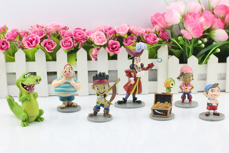 DHL 50 Set Anime Cartoon Jake and The Neverland Pirates PVC Action Figure Toys 7pcs/set Free Shipping<br><br>Aliexpress