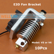 10Pcs E3D V5 V6 All-Metal Fan Bracket Hot end Fixed Plate Aluminium alloy For 3D Printer Parts Sandblasting