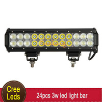 12 Inch CREE 72W Offroad LED Light Bar Combo Beam ATV 4WD 4x4 SUV UTV UTE UTV AWD Auto Car Bumper Auxuliary Driving Fog Lamp